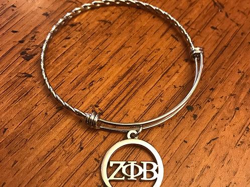 Stainless Steel Zeta Letter Bracelet