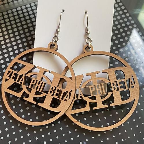 Zeta Phi Beta Letter Earrings
