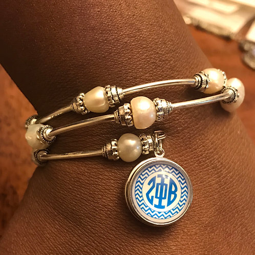 Zeta Phi Beta Wrap Snap Bracelet