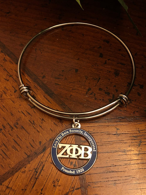 Zeta Blue LTR Stainless Bangle