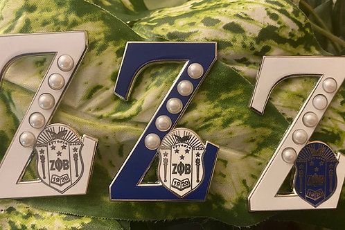 "Zeta (All Three) Shield ""Z"" Lapel Pin"