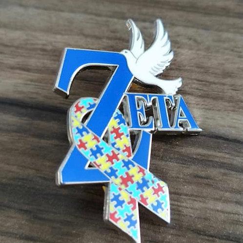 Zeta Autism Awareness Pin