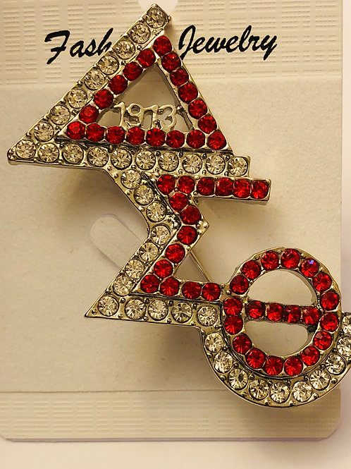 DST Crystal Lapel Pin