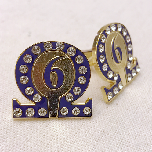Omega Psi Phi Line Number 6 Cufflinks
