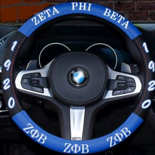 Zeta Phi Beta Letter Steering Wheel Cover