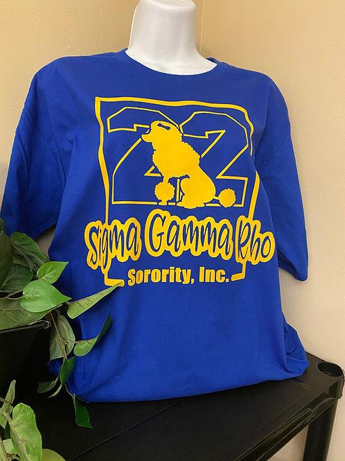 Sigma Gamma Rho 22 Poodle T-Shirt