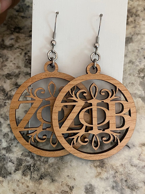 Zeta Delicate Wood Earrings