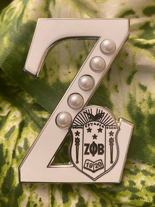 Zeta All White Z with Shield