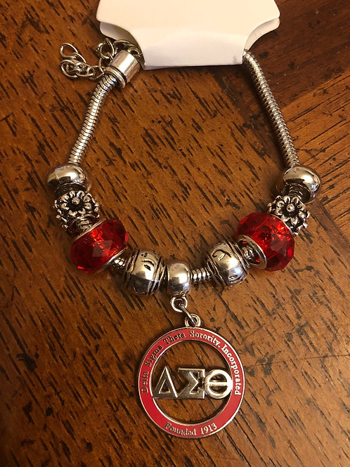 Delta Red LTR Cut Out Beaded Bracelet