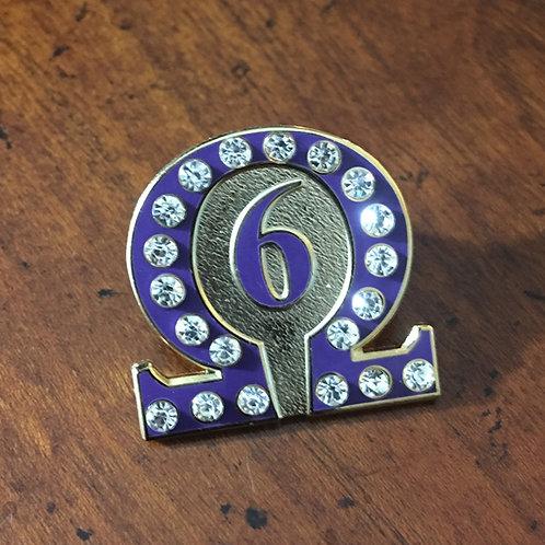 Omega Psi Phi Line No. 6 Lapel Pin