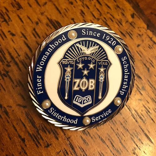 Zeta Phi Beta Diamond Cut Shield