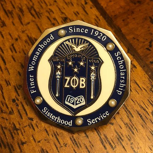 Zeta Phi Beta Shield Octogon Lapel Pin