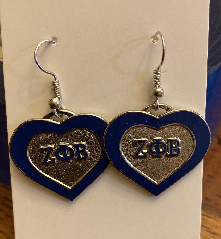 Thumbnail: Zeta Heart Earrings