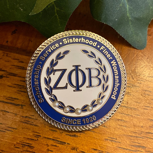 Zeta White Executive Lapel Pin