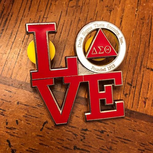 Delta Love Lapel Pin