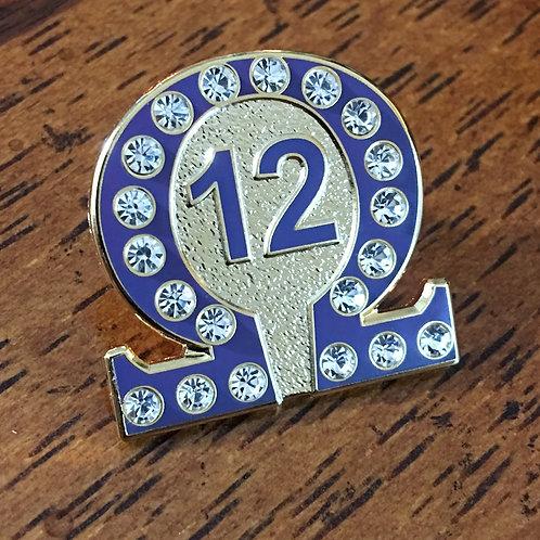 Omega Psi Phi Line No. 12 Lapel Pin