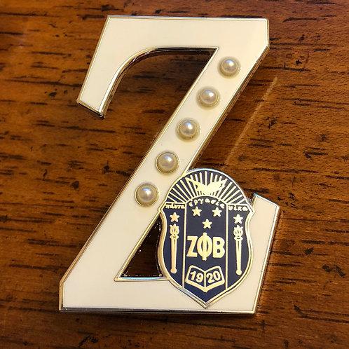 "Zeta Phi Beta Shield ""Z"" Lapel Pin"