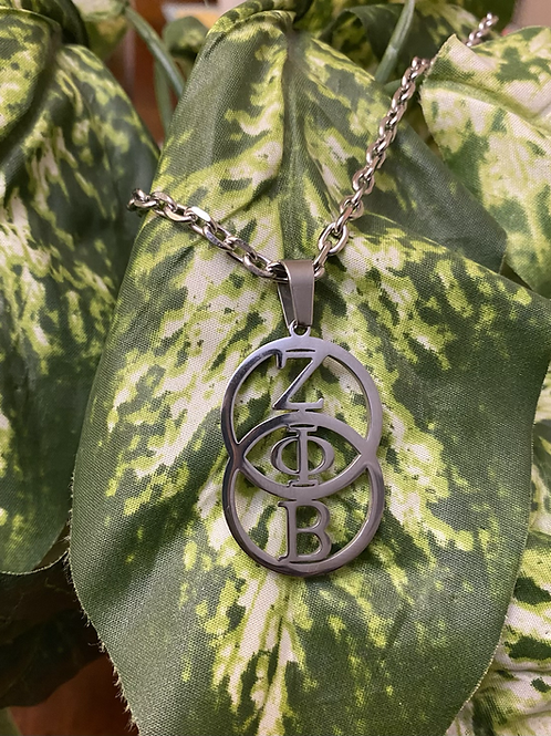 Zeta Stainless Infinity Necklace