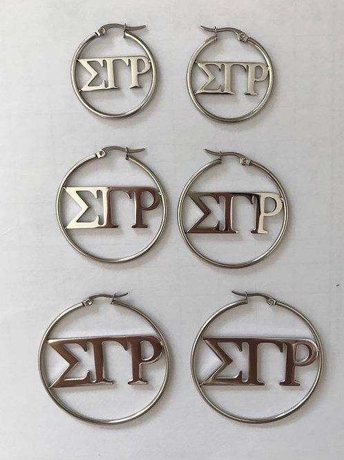 Sigma Gamma Rho Hoop Earrings