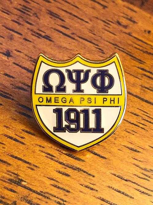 Omega Psi Phi 1911 Lapel Pin
