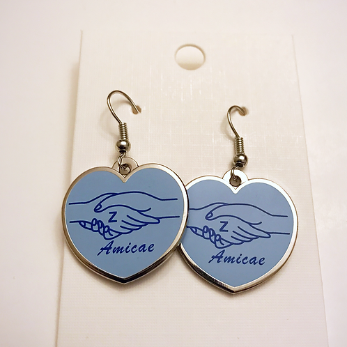 Zeta Amicae Heart Earrings
