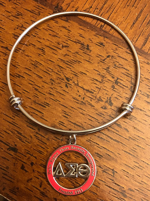 Delta Red LTR Cut Out Stainless Bracelet