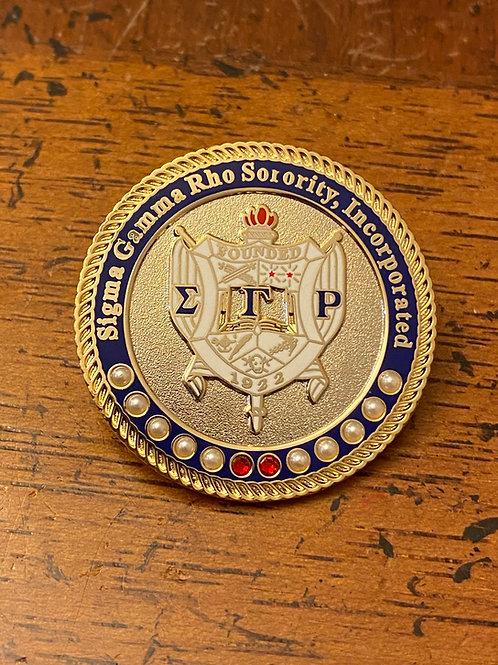 SGRho Gold Shield Executive Lapel Pin