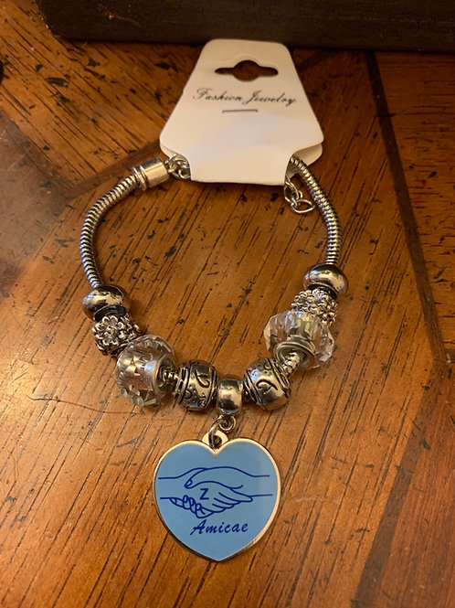 Zeta Amicae Heart Beaded Bracelet