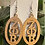 Thumbnail:  Zeta Oval wooden Earrings