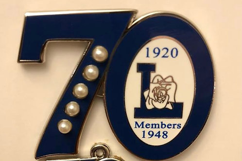 Lifemember 70th Anniversary Pin