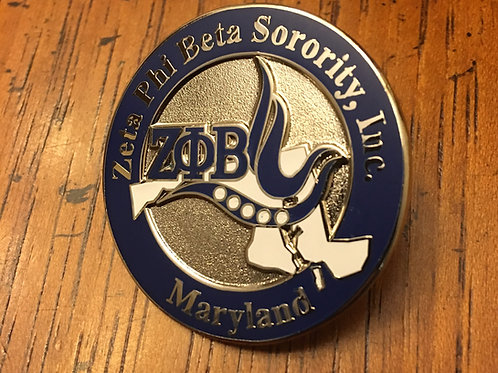 Zeta Phi Beta Maryland Lapel Pin
