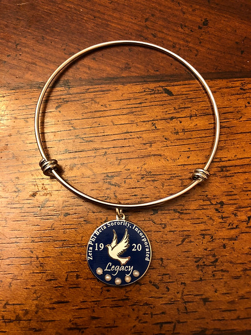 Zeta Legacy Stainless Bangle Bracelet