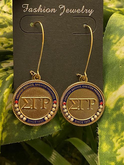 SGRho Gold Executive Earrings