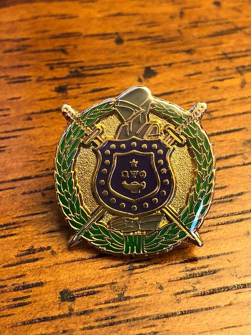 Omega Psi Phi Shield Lapel Pin