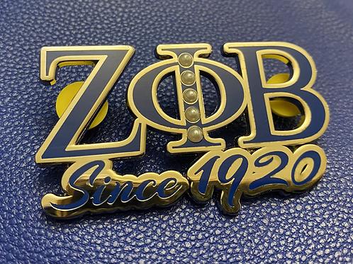 Zeta Since 1920 Lapel Pin