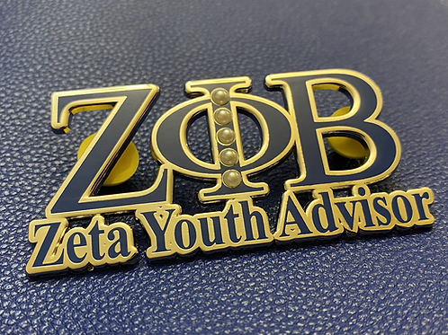 Zeta Youth Advisor Lapel Pin