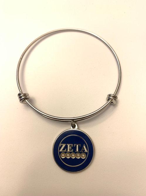 Zeta 5 Pearls Stainless Bracelet
