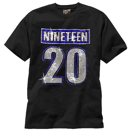 Zeta 1920 Bling T Shirt - Short Sleeve