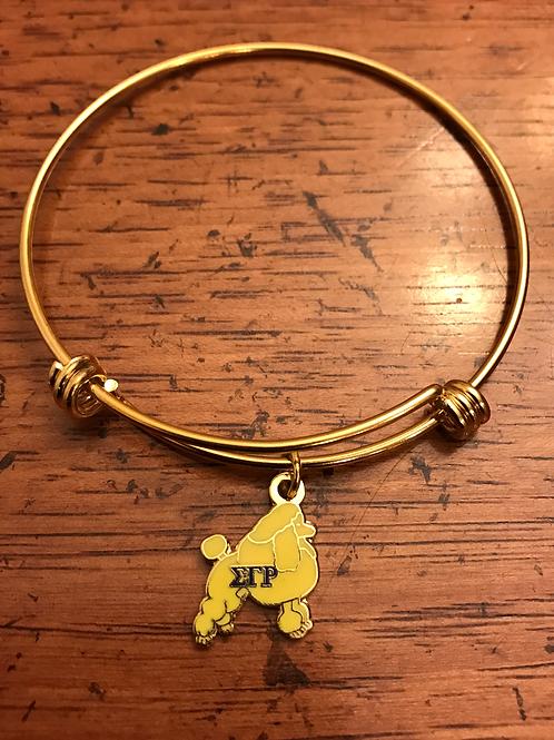 Gold Plated Stainless SGR Poodle Bracelet