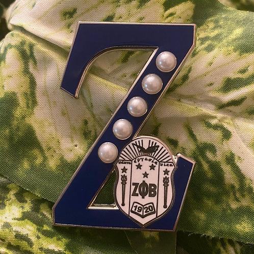 """Zeta Phi Beta Shield """"Z"""" Pin"""