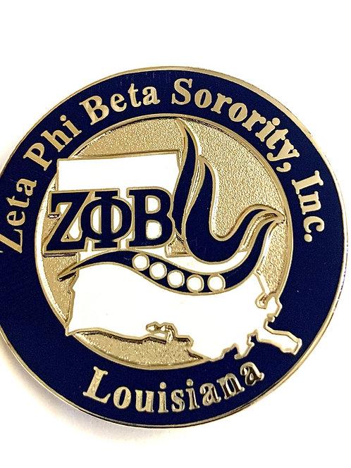 Zeta Phi Beta Louisiana State Pin