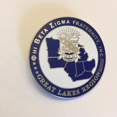 Phi Beta Sigma Great Lakes Pin
