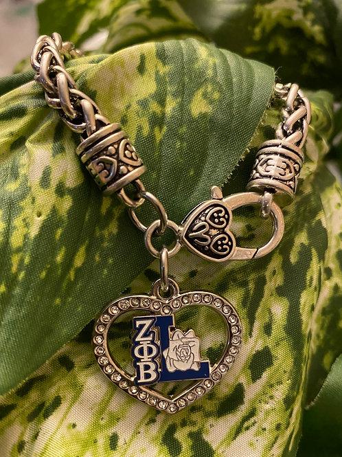 Zeta Lifemember Crystal Heart Lobster Claw