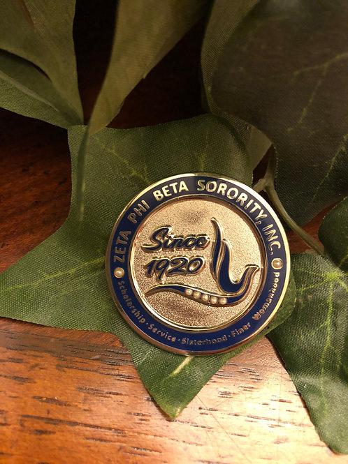 Zeta Phi Beta Since 1920 Lapel Pin