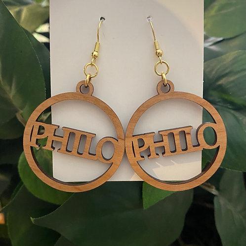 Philo Wooden  Earrings