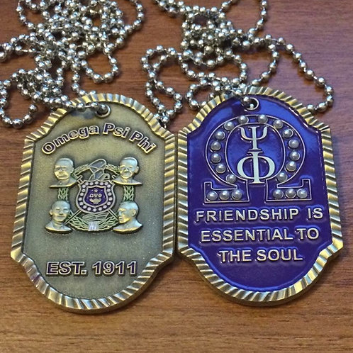 Omega Psi Phi Founder's Dog Tag