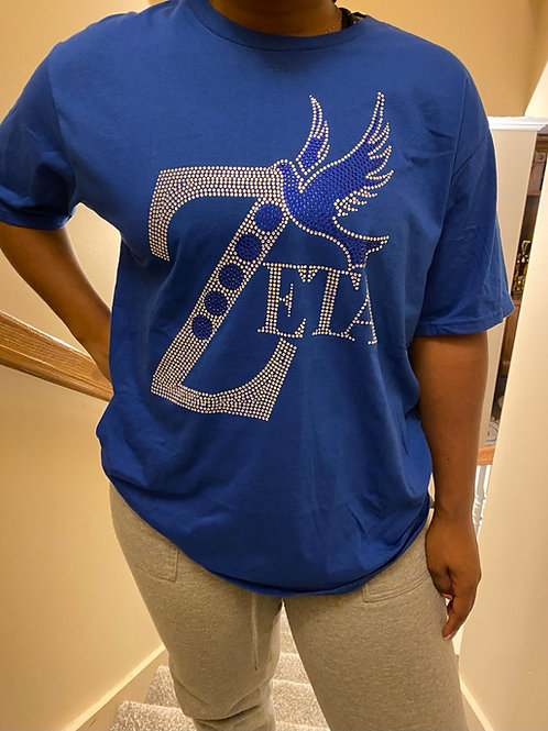 Zeta Royal Bling T-Shirt (Long and Short Sleeved)