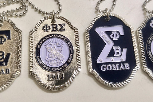 Phi Beta Sigma Dog Tags