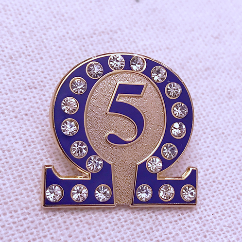 Omega Psi Phi Line Number 5 Lapel Pin
