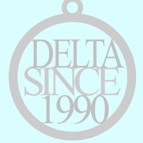 Delta Since 1990 Stainless Toggle Necklace